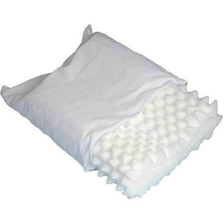 DMI Convoluted Foam Orthopedic Pillow, White