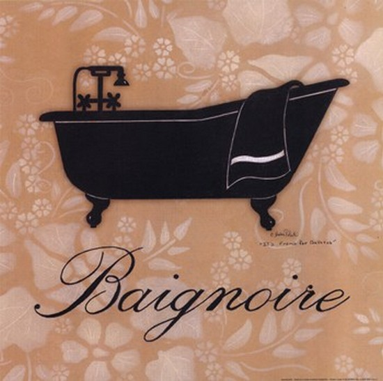 Baignoire Poster Print by Andrea Roberts (12 x 12)