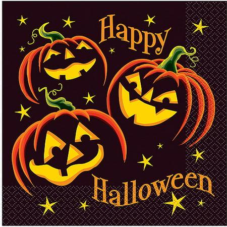 Halloween Luncheon Ideas (Pumpkin Grin Halloween Luncheon Napkins,)