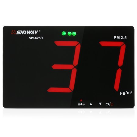 SNDWAY PM2.5 Detector with Data Storage Function Wall-mounted Air Inspection Instrument Dust Monitor 9.6-inch Large Screen - image 1 de 7
