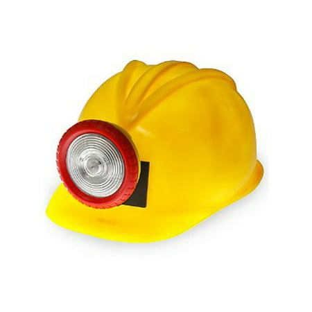 Hat With Light (Adults New Plastic Construction Helmet With Light Hard Hat Costume)