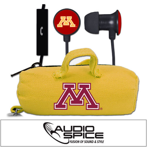 Minnesota Golden Gophers Scorch Earbuds + Mic with BudBag