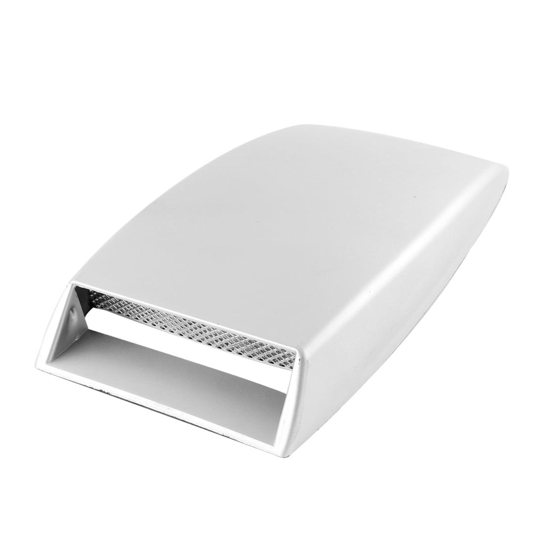 Father' s Day Gift l Unique Bargains Car Decorative Air Flow Intake Scoop Turbo Bonnet Vent Cover Hood Silver Tone