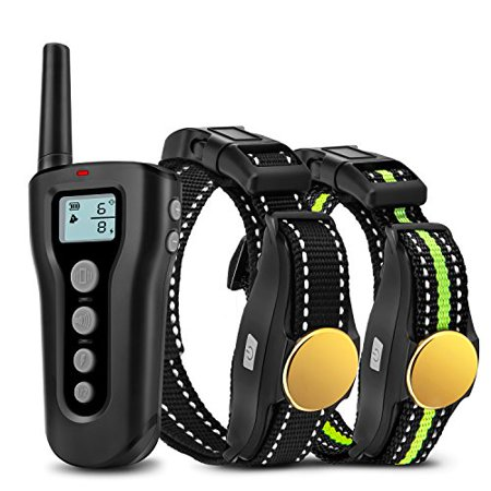 Bousnic Dog Training Collar 2 Dogs Upgraded 1000ft Remote Rechargeable Waterproof Electric Shock Collar with Beep Vibration Shock for Small Medium Large Dogs - image 1 de 1