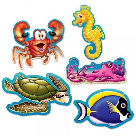 Beistle 54709 Mini Under The Sea Cutouts, 5, Multicolor Value 3-Pack](Under The Sea Items)
