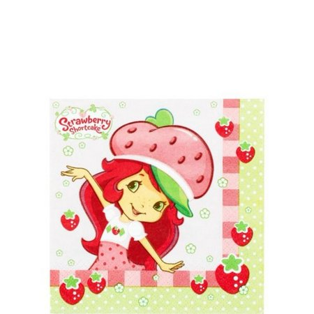 Strawberry Shortcake Party Beverage Napkins [16 per Pack] - Party City Strawberry Shortcake