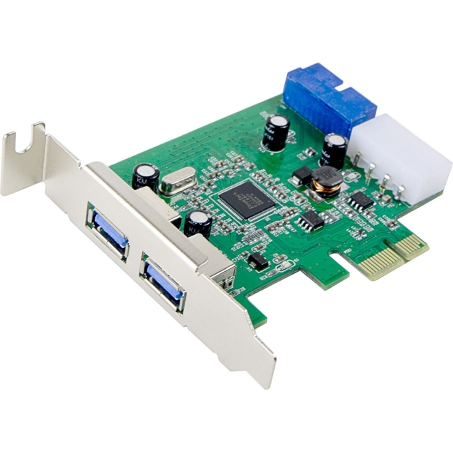 SYBA SY-PEX20140 USB 3.0 External 2-Port & 19-Pin Header PCI-Express Controller Card w/ Low Profile