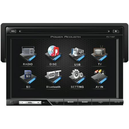 "Power Acoustik PD-710B 7"" DVD Receiver & Bazooka BTA8250D 250W Class D Tube Subwoofer 8"""