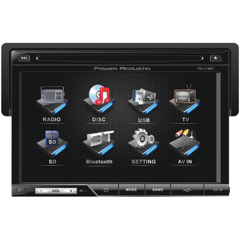 "Power Acoustik PD-710B 7"" DVD Receiver & Power Acoustik EF-653 6.5"" 400W Coaxial Speakers"