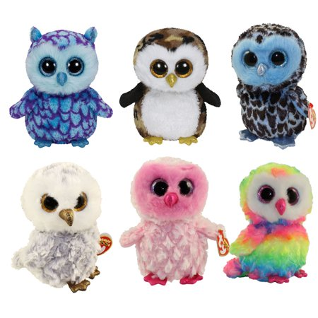 TY Beanie Boos - SET OF 6 OWLS (Owliver f4d53b9cec5d