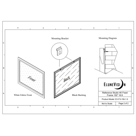 EluneVision Reference Studio 4K 150'' Fixed Frame 16:9 Projector Screen - image 2 de 4