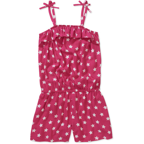 Faded Glory Girls' Bow Strap Romper