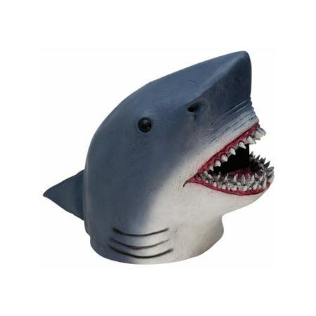 Adult's Shark Aquarium Zoo Animal Full Latex Mask Novelty Costume - Witch Latex Mask