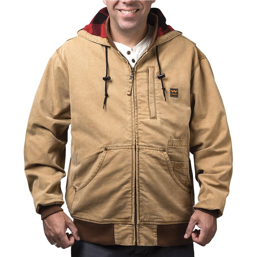 Walls Men's Vintage Duck Hooded Jacket Washed Pecan XLT