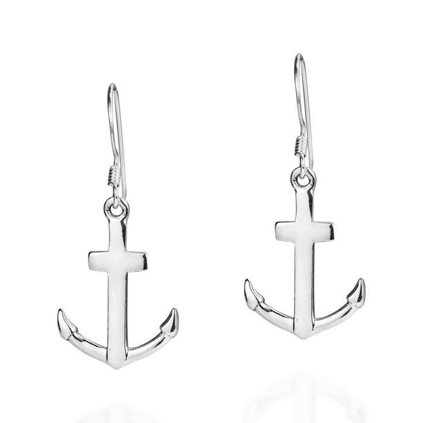 Anchor Dangle Earrings Nautical Earrings