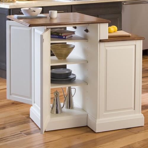 home styles woodbridge kitchen island with wooden top - walmart