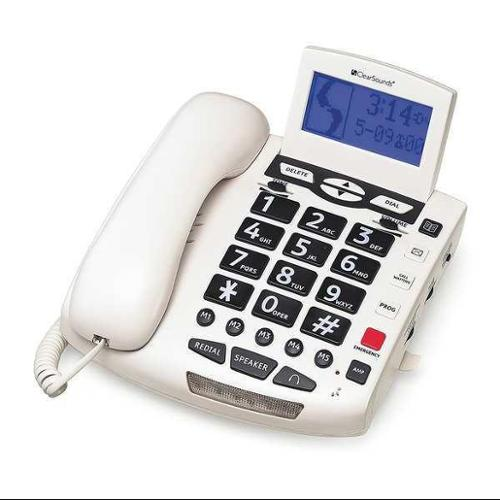 CLEARSOUNDS CSC600W Telephone, Corded, White