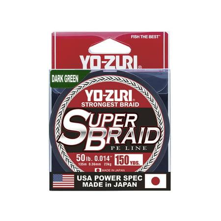 SUPER BRAID DARK GREEN 50LB 150YD Super Braid Knots