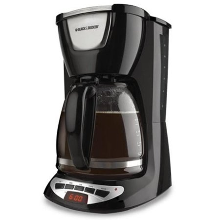 BLACK+DECKER DCM100B 12-Cup Programmable Coffeemaker with Glass Carafe,