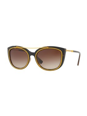 2d6414175f Product Image Versace VE 4336 108 13 56 Yellow Dark Havana   Brown Cateye  Sunglasses NIB