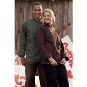0488-0201 Orleans Chef Coat in Brown - XSmall