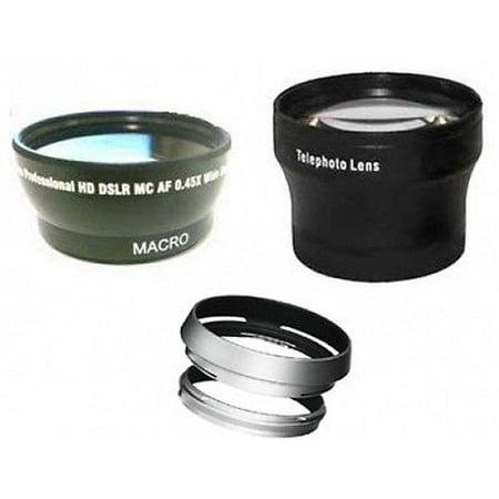 Fuji Sic Rings - Wide +Tele Lens +Hood with Adapter Ring Tube bundle for Fuji FujiFilm X100 X100s