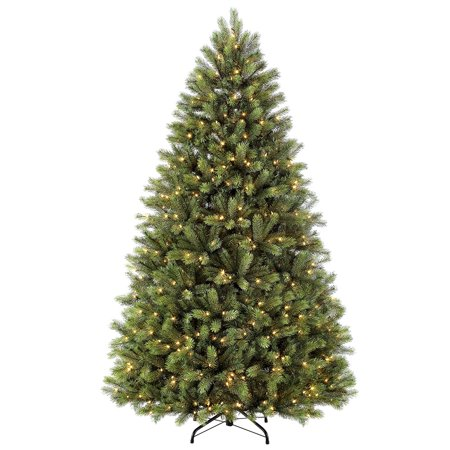 Puleo International 7.5 ft Pre-Lit Oxford Fir Artificial Christmas Tree with 700 UL-Listed Clear