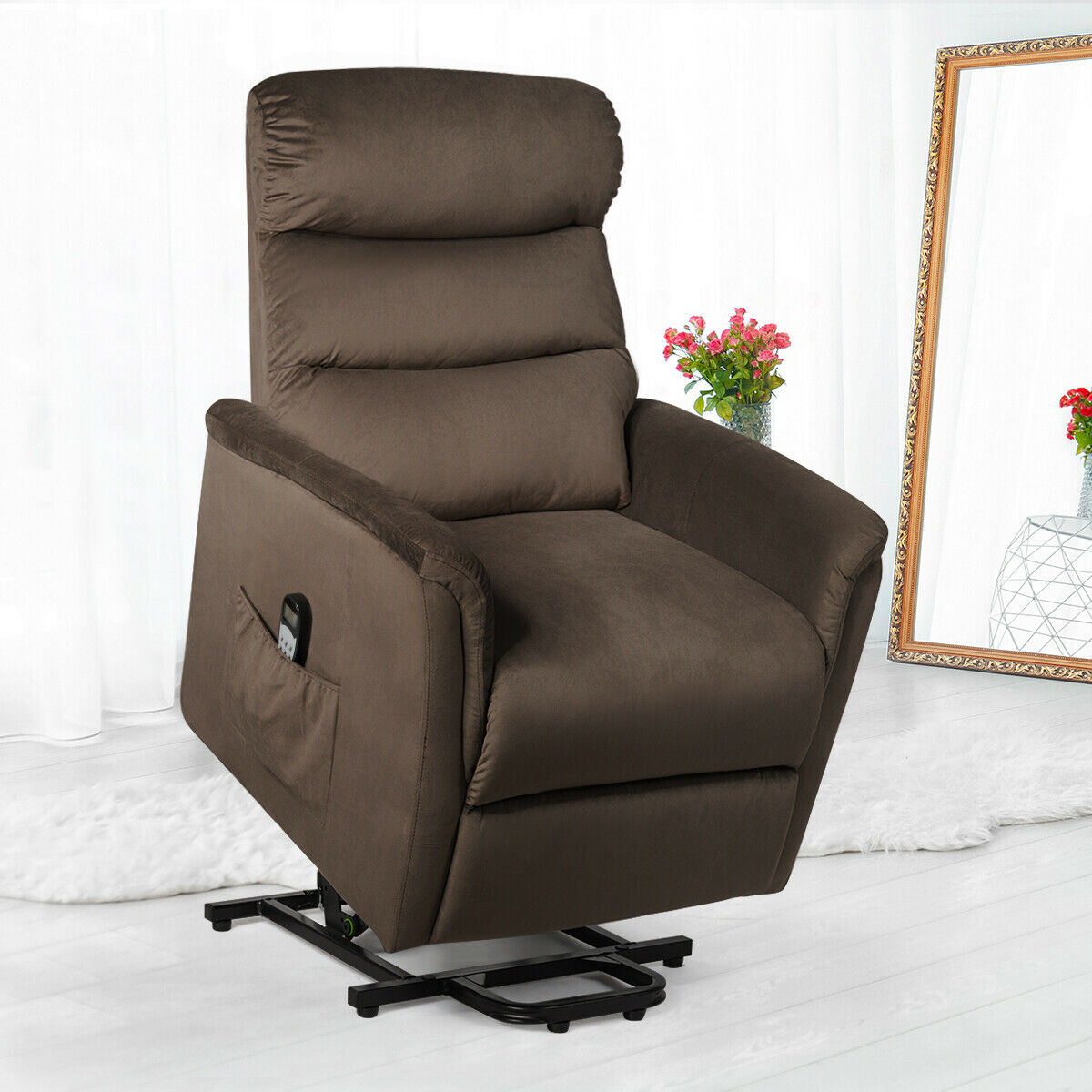 Electric Power Lift Chair Recliner Sofa Chair Remote Control Living Room