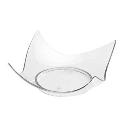 Fineline Settings 6203-CL, 2.75 x 2.75-Inch Clear Plastic Tiny Tortes Appetizer Trays, Disposable Serving Dessert Platters, Plastic Dishes, 10-Piece Pack