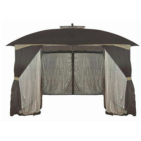 Mainstays Botanical Patterned Sheer Netting Gazebo, 10' x (12 Cedar Gazebo)