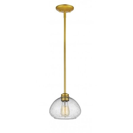 Z-Lite Amon 1 Light Mini Pendant in Satin Gold - image 1 de 1