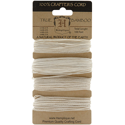 Bamboo Cord Assorted, 104'/Pkg, Natural
