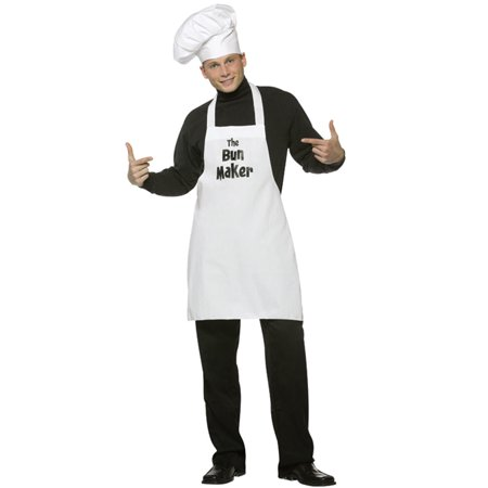 Bun Maker Men's Adult Halloween Costume, One Size, (40-46)](Hot Dog Bun Costume)