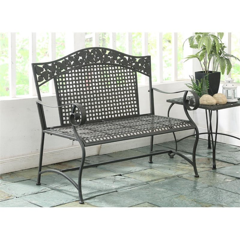 4D Concepts Ivy League Patio Bench in Brown Mesa by 4D Concepts