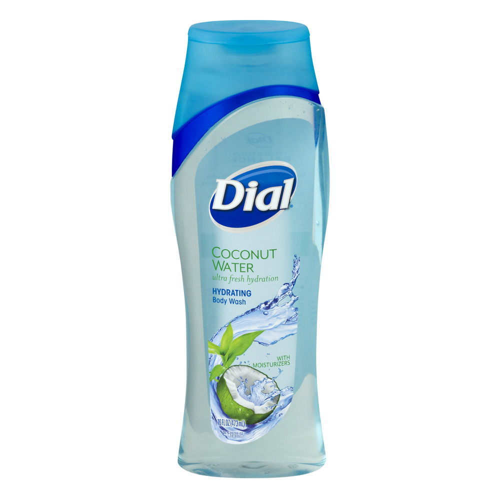 Dial Hydrating Body Wash With Moisturizers Coconut Water, 16.0 FL OZ