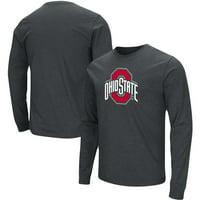 Ohio State Buckeyes Colosseum School Logo Long Sleeve T-Shirt - Heathered Black