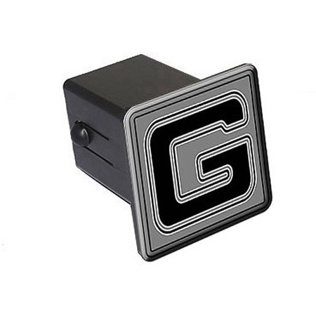"G Letter Initial 2"" Tow Trailer Hitch Cover Plug Insert"