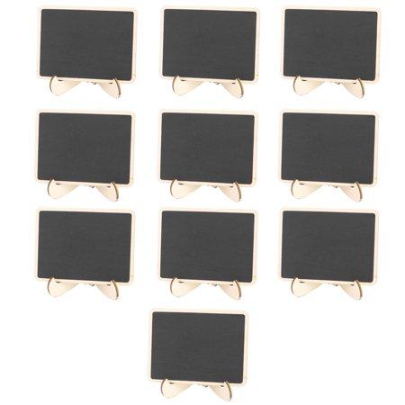 Wedding Wooden Rectangle Message Memo Standing Decor Chalkboard Blackboard 10pcs](Chalkboard Decor)