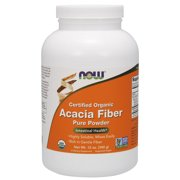 NOW Supplements, Acacia Fiber Powder, Certified Organic, Highly Soluble, Mixes Instantly, Intestinal Health*, 12-Ounce
