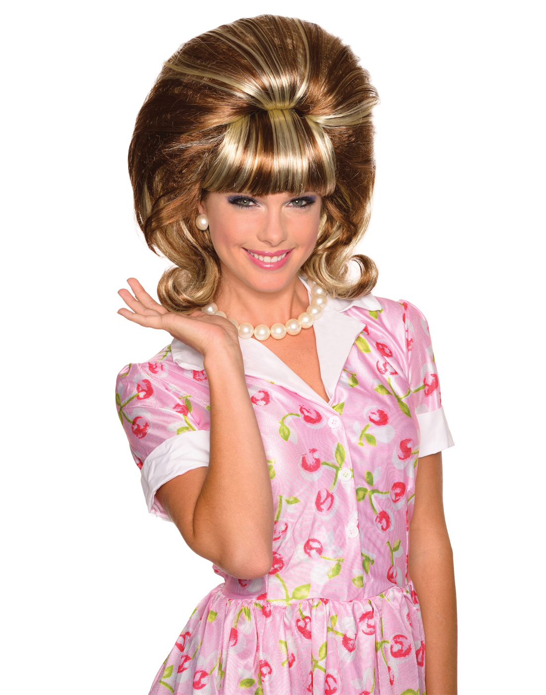 Brown Peggy Drag Queen Style Beehive 60 Big Hair Wig Walmart