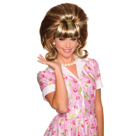 Brown Peggy Drag Queen Style Beehive 60 Big Hair Wig - Drag Halloween