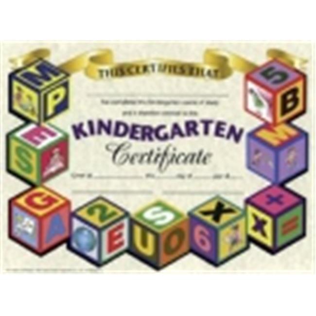 Hayes Kindergarten Certificate - 8.5 x 11 in. - Paper, Pack 30