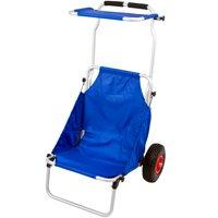 Blue Folding Beach Fishing Chair Cart