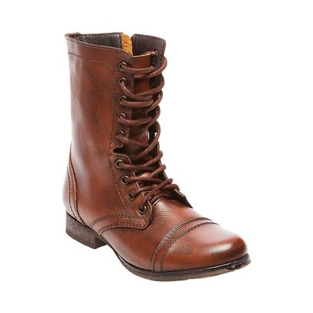 848cb61c8a1 womens steve madden troopa lace up combat boots, brown
