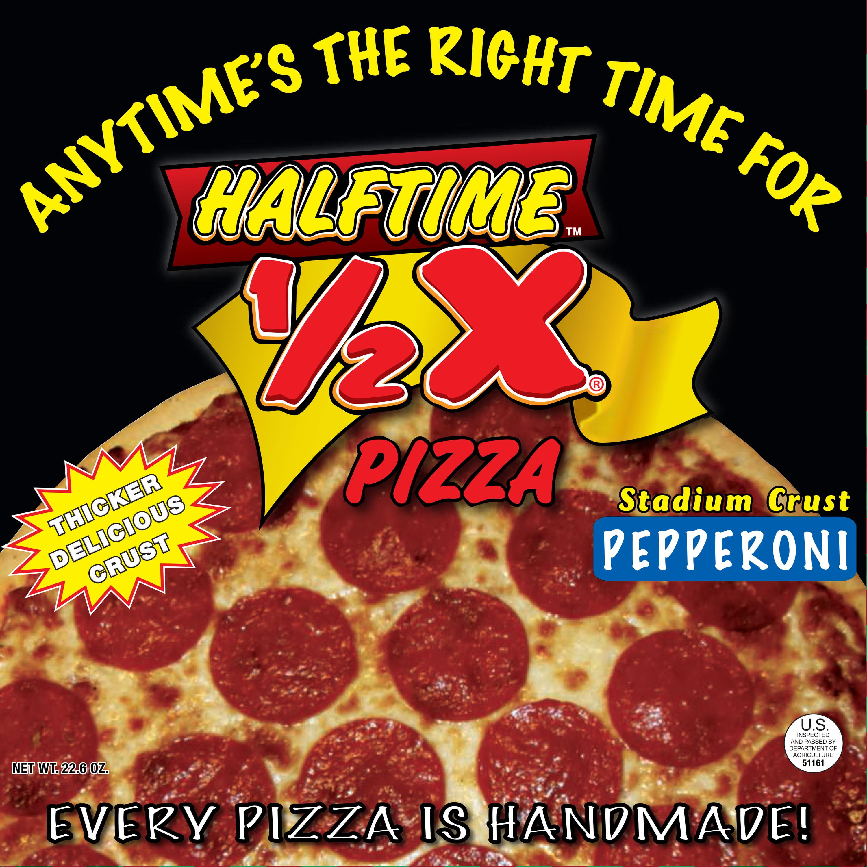 Halftime Stadium Crust Pepperoni Pizza, 22.6 oz