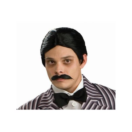 Gomez Addams Wig And Moustache Kit - Morticia E Gomez Halloween