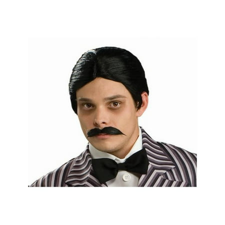 Gomez Addams Wig And Moustache Kit](Addams Family Wednesday Halloween)