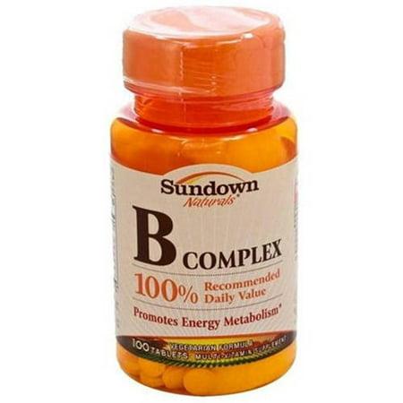 Sundown vitamine B comprimés complexes, 100 CT (pack de 3)