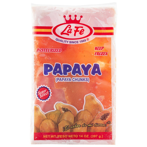 La Fe Frozen Papaya Chunks, 14 oz