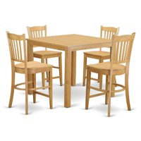 East West Furniture Cafe 5 Piece Counter Height Pub Table Set by East West Furniture